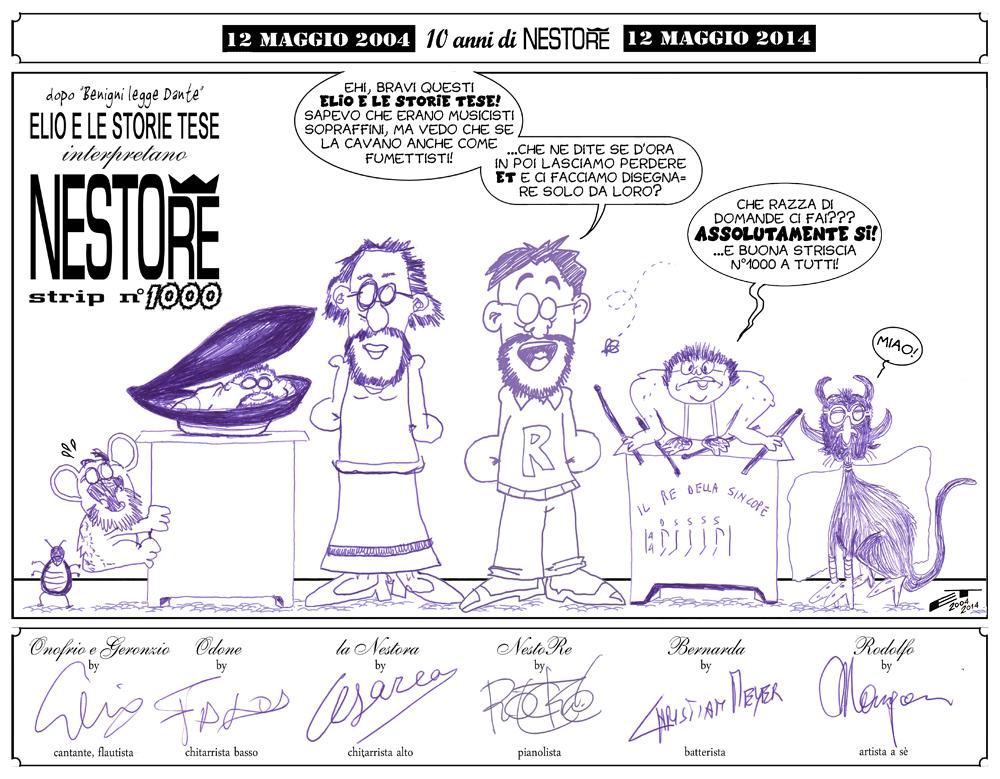 Il decennale di NestoRe - la vignetta disegnata da EelST