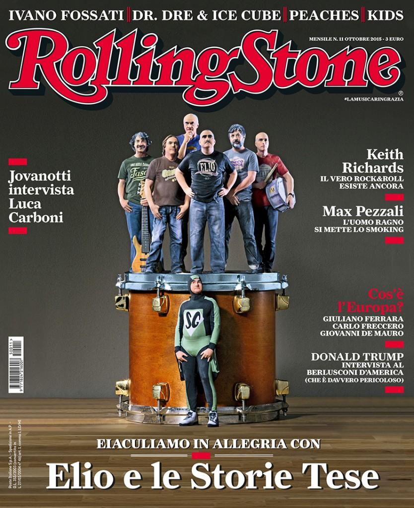 Elio e le Storie Tese sulla copertina di Rolling Stone - ottobre 2015
