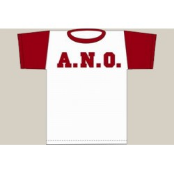 T-Shirt A.N.O. bicolore bianca/rossa