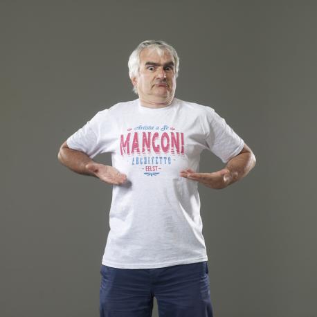 T-shirt Mangoni Artista a sé grigia