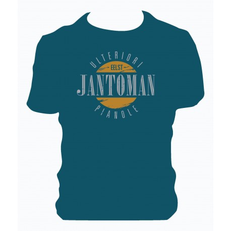 T-shirt Jantoman blu ottanio
