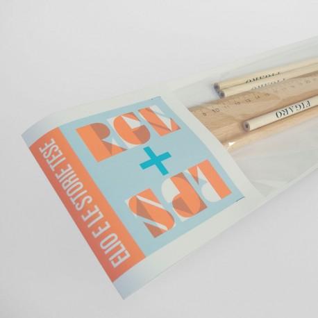 Kit righello (dimensione artistica) + matite Figaro